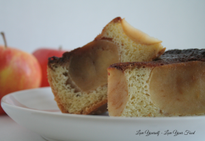 Upside Down Caramel Apple Cake 1